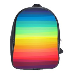 Sweet Colored Stripes Background School Bags (XL)