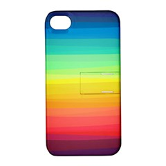 Sweet Colored Stripes Background Apple iPhone 4/4S Hardshell Case with Stand
