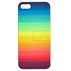 Sweet Colored Stripes Background Apple iPhone 5 Hardshell Case with Stand