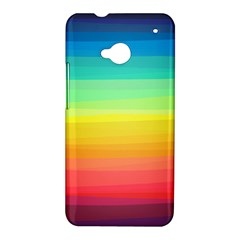 Sweet Colored Stripes Background HTC One M7 Hardshell Case