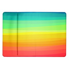 Sweet Colored Stripes Background Samsung Galaxy Tab 10.1  P7500 Flip Case