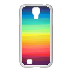 Sweet Colored Stripes Background Samsung GALAXY S4 I9500/ I9505 Case (White)