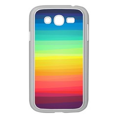 Sweet Colored Stripes Background Samsung Galaxy Grand DUOS I9082 Case (White)