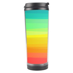 Sweet Colored Stripes Background Travel Tumbler