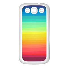 Sweet Colored Stripes Background Samsung Galaxy S3 Back Case (White)