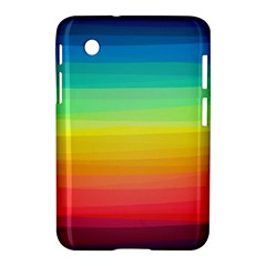 Sweet Colored Stripes Background Samsung Galaxy Tab 2 (7 ) P3100 Hardshell Case