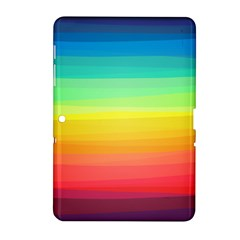 Sweet Colored Stripes Background Samsung Galaxy Tab 2 (10.1 ) P5100 Hardshell Case