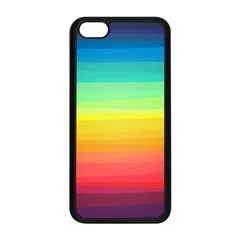 Sweet Colored Stripes Background Apple iPhone 5C Seamless Case (Black)