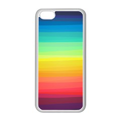Sweet Colored Stripes Background Apple iPhone 5C Seamless Case (White)