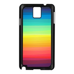 Sweet Colored Stripes Background Samsung Galaxy Note 3 N9005 Case (Black)