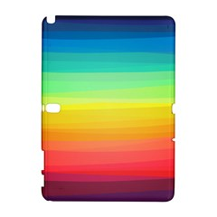 Sweet Colored Stripes Background Samsung Galaxy Note 10.1 (P600) Hardshell Case