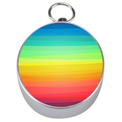 Sweet Colored Stripes Background Silver Compasses