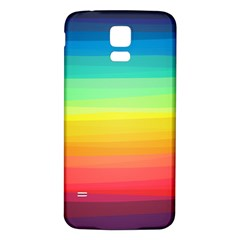 Sweet Colored Stripes Background Samsung Galaxy S5 Back Case (White)