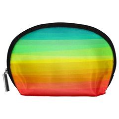 Sweet Colored Stripes Background Accessory Pouches (Large)