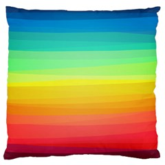 Sweet Colored Stripes Background Standard Flano Cushion Case (Two Sides)