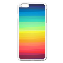 Sweet Colored Stripes Background Apple iPhone 6 Plus/6S Plus Enamel White Case