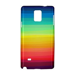 Sweet Colored Stripes Background Samsung Galaxy Note 4 Hardshell Case