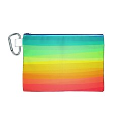 Sweet Colored Stripes Background Canvas Cosmetic Bag (M)