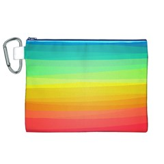 Sweet Colored Stripes Background Canvas Cosmetic Bag (XL)