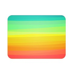 Sweet Colored Stripes Background Double Sided Flano Blanket (Mini)