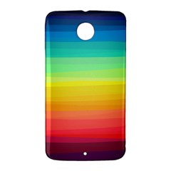 Sweet Colored Stripes Background Nexus 6 Case (White)