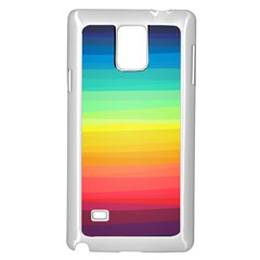 Sweet Colored Stripes Background Samsung Galaxy Note 4 Case (White)
