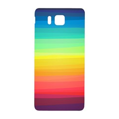 Sweet Colored Stripes Background Samsung Galaxy Alpha Hardshell Back Case
