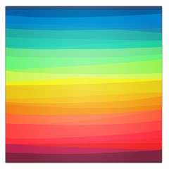 Sweet Colored Stripes Background Large Satin Scarf (Square)