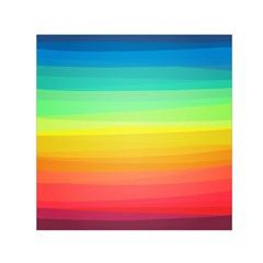 Sweet Colored Stripes Background Small Satin Scarf (Square)