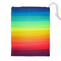 Sweet Colored Stripes Background Drawstring Pouches (xxl)