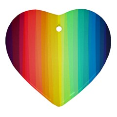 Sweet Colored Stripes Background Ornament (Heart)