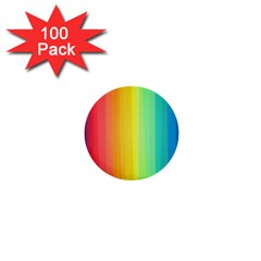 Sweet Colored Stripes Background 1  Mini Buttons (100 pack)