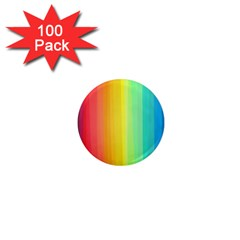 Sweet Colored Stripes Background 1  Mini Magnets (100 pack)