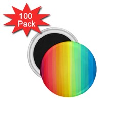 Sweet Colored Stripes Background 1.75  Magnets (100 pack)