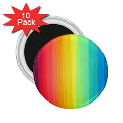 Sweet Colored Stripes Background 2.25  Magnets (10 pack)
