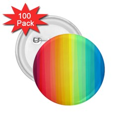 Sweet Colored Stripes Background 2.25  Buttons (100 pack)
