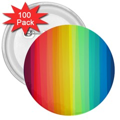 Sweet Colored Stripes Background 3  Buttons (100 pack)