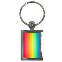 Sweet Colored Stripes Background Key Chains (Rectangle)