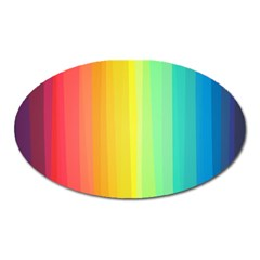 Sweet Colored Stripes Background Oval Magnet