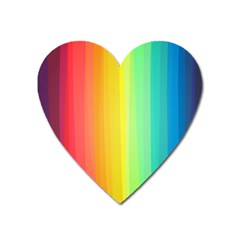 Sweet Colored Stripes Background Heart Magnet