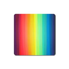 Sweet Colored Stripes Background Square Magnet