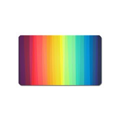 Sweet Colored Stripes Background Magnet (Name Card)