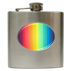 Sweet Colored Stripes Background Hip Flask (6 oz)