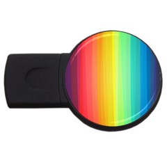 Sweet Colored Stripes Background USB Flash Drive Round (2 GB)