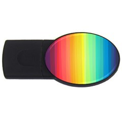 Sweet Colored Stripes Background USB Flash Drive Oval (1 GB)