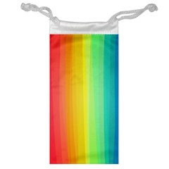 Sweet Colored Stripes Background Jewelry Bags