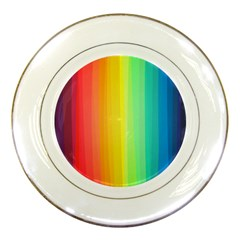 Sweet Colored Stripes Background Porcelain Plates