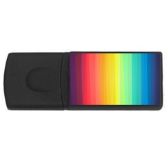 Sweet Colored Stripes Background USB Flash Drive Rectangular (4 GB)