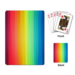 Sweet Colored Stripes Background Playing Card