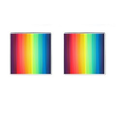 Sweet Colored Stripes Background Cufflinks (Square)